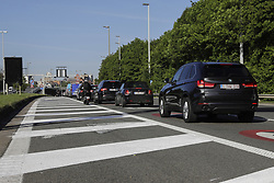 May 13, 2019 - Brussels, Belgium - Illustration picture shows cars at the E40 highway in the direction of Brussels, Monday 13 May 2019. The number of lanes at the end of the E40 and A12 highway will be reduced and the maximum speed will be limited to 50km/h when entering Brussels. (Credit Image: © Thierry Roge/Belga via ZUMA Press)
