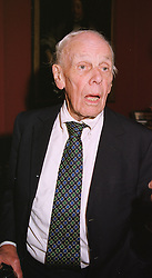 LORD DEEDES  at a party in London on 12th May 1999.MRY 28
