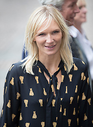 © Licensed to London News Pictures. 27/09/2016.  Jo Whiley arrives for a Service of Thanksgiving for the Life and Work of Sir Terry Wogan at Westminster Abbey. Veteran broadcaster Sir Terry Wogan died in January 2016. The Irish star had a long and successful career at the BBC, including stints on  radio and TV. London, UK. Photo credit: Peter Macdiarmid/LNP