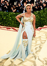 Mary J. Blige attending the Metropolitan Museum of Art Costume Institute Benefit Gala 2018 in New York, USA