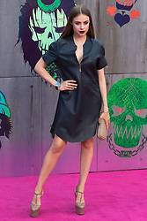 Leicester Square, London, August 3rd 2016. Hundreds of fans greet the stars of Suicide Squad at the film's European premiere in London's Leicester Square. Stars attending include: Jared Leto, Joel Kinnaman, Jai Courtney, Jay Hernandez, Adewale Akinnuoye-Agbaje, Cara Delevingne, Karen Fukuhara David Ayer (Director) Richard Suckle and Charles Roven (Producers). PICTURED: Xenia Tchoumi