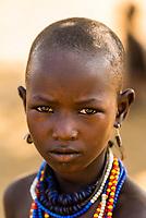 Arbore tribe girl, Omo Valley, Ethiopia.