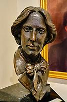 République d'Irlande, Dublin,  Irish Writers Center, musée des écrivains, buste de Oscar Wilde // Republic of Ireland, Dublin, Irish Writers Center, writers museum, Oscar Wilde bust