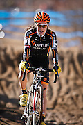 SHOT 1/12/14 2:50:13 PM - Crystal Anthony (#5) of Beverly, Ma. competes in the Women's Elite race at the 2014 USA Cycling Cyclo-Cross National Championships at Valmont Bike Park in Boulder, Co.  (Photo by Marc Piscotty / © 2013)