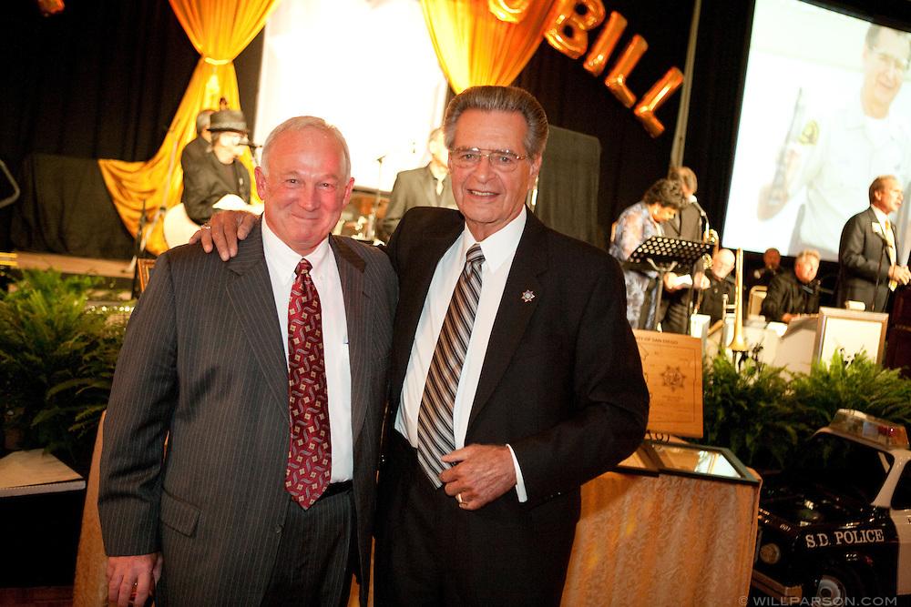San Diego Mayor Jerry Sanders and Retired Sheriff Bill Kolender
