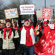 Thousands of educators and their supporters from all over the state gather at the Oregon State Capitol to rally for adequate school funding. A select group of teachers and staff members spoke to Gov. Kate Brown about their experiences, and shared with her the challenges of being a teacher today.<br /> <br /> Photography by Thomas Patterson.
