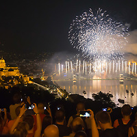 Fireworks celebrate the Hungarian national holiday in Budapest, Hungary  on Aug. 20, 2018. ATTILA VOLGYI