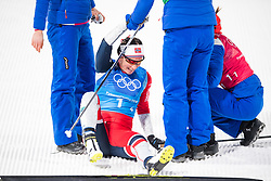 February 17, 2018 - Pyeongchang, SOUTH KOREA - 180217 Marit BjÂ¿rgen of Norway, gold, celebrating after the  WomenÃ•s Cross Country Skiing 4x5 km Relay during day eight of the 2018 Winter Olympics on February 17, 2018 in Pyeongchang..Photo: Petter Arvidson / BILDBYRN / kod PA / 87632 (Credit Image: © Petter Arvidson/Bildbyran via ZUMA Press)