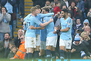 Celebrating a home goal fo 47 Phil Foden for Manchester City during the The FA Cup 3rd round match between Manchester City and Rotherham United at the Etihad Stadium, Manchester, England on 6 January 2019.