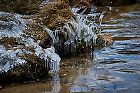 Ice melting into a stream in Rocky Mountain National Park. Image taken with a Nikon D300 camera and 80-400 mm VR lens (ISO 200, 400 mm, f/5.6, 1/1600 sec).