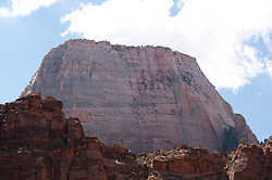 USA Utah, Zion National Park. Big Bend  land form, showing the Great White Throne.