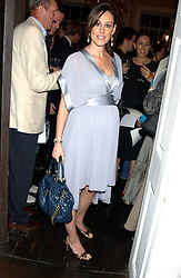 LUCY RUSEDSKI who is 5 months pregnent at a party hosted by Franc Roddam and Frost French to celebrate the publication of Margarita's Olive Press by Rodney Sheilds held at No1 Greek Street, Soho Square, London W1 on 15th September 2005.<br /><br />NON EXCLUSIVE - WORLD RIGHTS