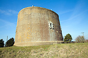 Martello tower dating from Napoleonic War Shingle Street Suffolk