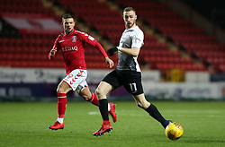 Marcus Maddison of Peterborough United in action with Jake Forster-Caskey of Charlton Athletic - Mandatory by-line: Joe Dent/JMP - 28/11/2017 - FOOTBALL - The Valley - Charlton, London, England - Charlton Athletic v Peterborough United - Sky Bet League One