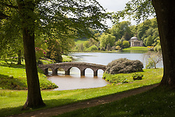 © Licensed to London News Pictures. 20/05/2015. Stourhead, UK. A general view (GV) of the lake and Pantheon building at the National Trust Property, Stourhead, in Wiltshire today, 20th May 2015. Photo credit : Rob Arnold/LNP