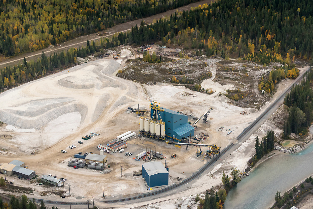 Photography of the Frac Sand Plant in Moberly, British Columbia by Brett Gilmour Photography