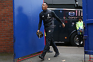 Nathaniel Clyne of Liverpool arrives through the gates at Selhurst Park before the match. Premier League match, Crystal Palace v Liverpool at Selhurst Park in London on Saturday 29th October 2016.<br /> pic by John Patrick Fletcher, Andrew Orchard sports photography.