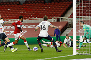 1-0, GOAL scored by Middlesbrough  forward Chuba Akpom (10) during the EFL Sky Bet Championship match between Middlesbrough and Luton Town at the Riverside Stadium, Middlesbrough, England on 16 December 2020.