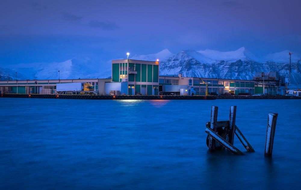 HOFN, ICELAND - CIRCA MARCH 2015: Port of Hofn in Iceland.