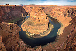 Horseshoe Bend of the Colorado River in Page Arizona.