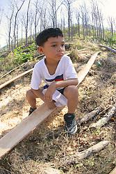 Estuart sitting on Pachote Wood