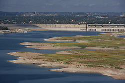 Lake Travis exposes 'Sometimes Islands' during Texas drought.
