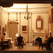A scale model of the real White House is on display at the Reagan Library in Simi Valley, California. This is The Lincoln Study
