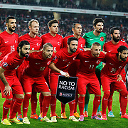 Turkey's players during their UEFA Euro 2016 qualification Group A soccer match Turkey betwen Czech Republic at Sukru Saracoglu stadium in Istanbul October 10, 2014. Photo by Aykut AKICI/TURKPIX