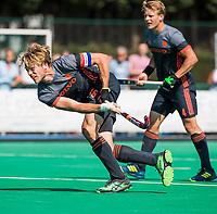 St.-Job-In 't Goor / Antwerpen -  6Nations U23 -  Jip Janssen (Ned).neemt strafcorner , pc,  Nederland Jong Oranje Heren (JOH) - Groot Brittannie .  COPYRIGHT  KOEN SUYK
