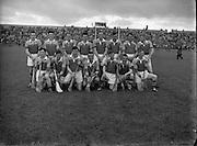 St Brendan Cup Final, .New York v Wexford, .Wexford Team.14.09.1958, 09.14.1958, 14th September 1958,