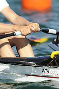 Munich, GERMANY,  GER W4X, Bow  Kathrin BORON. At the start, during the FISA World Cup at the Munich Olympic Rowing Course, Thur's.  08.05.2008  [Mandatory Credit Peter Spurrier/ Intersport Images] Rowing Course, Olympic Regatta Rowing Course, Munich, GERMANY