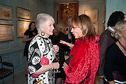 PATRICIA COOK; LOUISE LEWINTON, An exhibition of watercolours by William Rayner at Mallet's, New Bond St. Party afterwards at Bellami's, bruton Place. London. 16 June 2010. .-DO NOT ARCHIVE-© Copyright Photograph by Dafydd Jones. 248 Clapham Rd. London SW9 0PZ. Tel 0207 820 0771. www.dafjones.com.