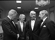 People Of The Year Awards.  (R91)..1988..22.11.1988..11.22.1988..22nd November 1988..This is the fourteenth year of the People of the Year Awards, sponsored by the New Ireland Assurance Company plc. The awards will be presented by Mr Ray Burke TD, Minister of Energy and Communications. Eight people have been nominated this year..Mr Ollie Jennings, for his contribution to community and cultural life of Galway City..Mr Jack Charlton, for restoration of pride to the Irish Soccer team..Ms Carmencita Hederman, For her efforts to instill a community spirit in Dublin..Maureen O'Mahony, for her dedication in assisting the sick and elderly in the Bantry area..Mr Tommy Boyle, for his contribution in having the Garda band ranked as one of the top bands in the world..Ms Alice Leahy, for a lifetime commitment in providing medical care to the Dublin Homeless..Ms Norma Smurfitt, for her voluntary contribution to the work of the Arthritis Foundation Of ireland..Mr Gordon Wilson, for his commitment to peace and reconcilliation in Northern Ireland...Image shows Mr Eoin Ryan, Chairman, New Ireland, Nurse Alice Leahy, her Husband Mr Charles Best and Mr Joe Treacy, Chairman, Rehab Ireland.