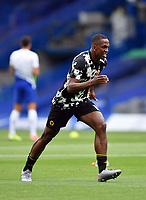Football - 2019 / 2020 Premier League - Chelsea vs. Wolverhampton Wanderers<br /> <br /> Wolverhampton Wanderers' Willy Boly during the pre-match warm-up, at Stamford Bridge.<br /> <br /> COLORSPORT/ASHLEY WESTERN