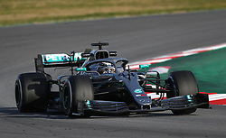 Mercedes Lewis Hamilton during day one of pre-season testing at the Circuit de Barcelona-Catalunya.