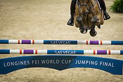 Mohammed Bassem Hassan, (QAT), Primeval Dejavu <br /> Training session<br /> Longines FEI World Cup™ Jumping Finals <br /> Las Vegas 2015<br />  © Hippo Foto - Dirk Caremans<br /> 15/04/15