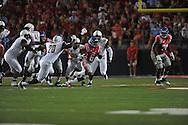 Mississippi Rebels running back Jaylen Walton (6) runs against Vanderbilt Commodores safety Oren Burks (20)  at Vaught-Hemingway Stadium at Ole Miss in Oxford, Miss. on Saturday, September 26, 2015. (AP Photo/Oxford Eagle, Bruce Newman)