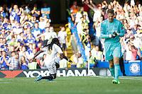 Swansea City's Bafetibis Gomis celebrates scoring his sides second goal <br /> <br /> Photographer Craig Mercer/CameraSport<br /> <br /> Football - Barclays Premiership - Chelsea v Swansea City - Saturday 8th August 2015 - Stamford Bridge - London<br /> <br /> © CameraSport - 43 Linden Ave. Countesthorpe. Leicester. England. LE8 5PG - Tel: +44 (0) 116 277 4147 - admin@camerasport.com - www.camerasport.com