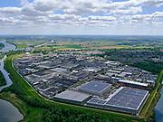 Nederland, Brabant, Raamsdonksveer, 14-05-2020; industrieterrein met in de voorgrond het distributiecentrum van Welzorg (leverancier van hulpmiddelen).<br /> Industrial estate with in the foreground the distribution center of Welzorg (supplier of aids).<br /> <br /> luchtfoto (toeslag op standard tarieven);<br /> aerial photo (additional fee required);<br /> copyright foto/photo Siebe Swart