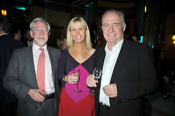Left to right, The EARL OF BRADFORD, SARAH BURNS and RICK STEIN at the San Pellegrino World's 50 Best Restaurants Awards 2009 at Freemason's Hall, Great Queen Street, London on 20th April 2009.