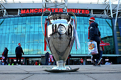 A replica of the Champions League Trophy stands outside, Old Trafford - Mandatory by-line: Robbie Stephenson/JMP - 13/03/2018 - FOOTBALL - Old Trafford - Manchester, England - Manchester United v Sevilla - UEFA Champions League Round of 16 2nd Leg