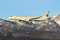 Sunset landing for Air Canada Embraer 190 C-FHNY