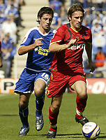 Photo: Aidan Ellis.<br /> Leicester City v Watford. Coca Cola Championship. 25/08/2007.<br /> Watford's Tommy Smith gets away from Leicester's Alan Sheehan