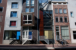 Modern apartment buildings in Java Island district of Amsterdam The Netherlands