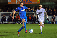 AFC Wimbledon midfielder Anthony Hartigan (8) controlling the ball during the EFL Sky Bet League 1 match between AFC Wimbledon and Peterborough United at the Cherry Red Records Stadium, Kingston, England on 12 March 2019.