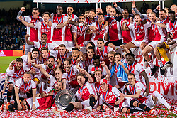 15-05-2019 NED: De Graafschap - Ajax, Doetinchem<br /> Round 34 / It wasn't really exciting anymore, but after the match against De Graafschap (1-4) it is official: Ajax is champion of the Netherlands / Ajax kampioen, team photo