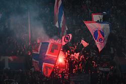 PSG's fans during the UEFA Champions League Paris Saint-Germain v Real Madrid at the Parc des Princes stadium on September 18, 2019 in Paris, France. PSG won 3-0. Photo by Christian Liewig/ABACAPRESS.COM