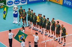 06-10-2002 ARG: World Champioships Netherlands - Brasil, Santa Fe<br /> Team Brazil<br /> NEDERLAND - BRAZILIE 0-3<br /> WORLD CHAMPIONSHIP VOLLEYBALL 2002 ARGENTINA<br /> SANTA FE / 06-10-2002