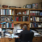 Pastor Paul Reichert does some work on his computer in his office at  St. Martin's Lutheran Church in Archbold, Ohio, on Wednesday, July 25, 2018. THE BLADE/KURT STEISS