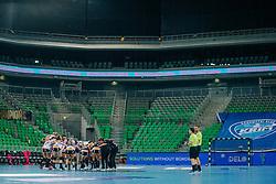 Players of Vipers Kristiansand (NOR) celebrating after winning the handball match between RK Krim Mercator (SLO) and Vipers Kristiansand (NOR), on September 12, 2020 in Arena Stožice, Ljubljana, Slovenia. Photo by Sinisa Kanizaj / Sportida